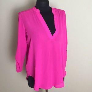 Lush Bright Pink Blouse NWT